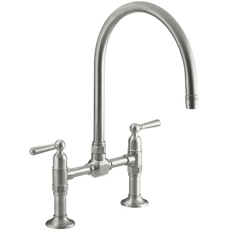 Kohler HiRise Deck Mounted Bridge Kitchen Mixer Tap