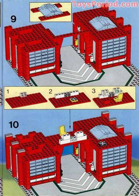 Cool Houses Com lego 6389 fire control center set parts inventory and