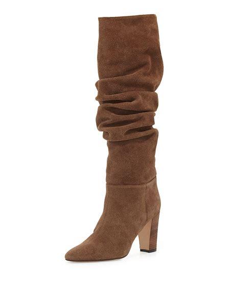 Shoes Manolo Blahnik 1129 2a manolo blahnik brunchilee suede scrunched knee boot