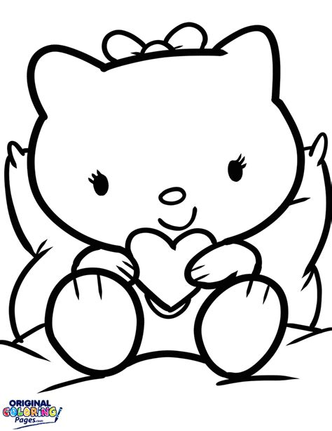 hello kitty heart coloring page hello kitty with a heart coloring page coloring pages