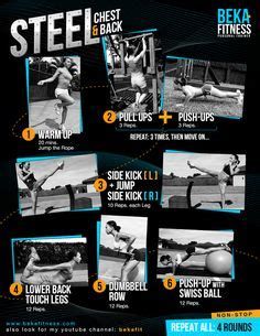 strenght workout with trx and dumbbells bekafitness