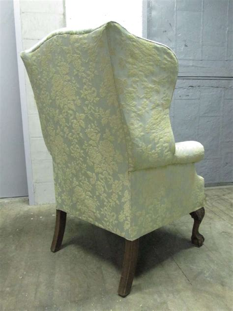 Tufted Wingback Chair Sale by Pair Of Chippendale Style Tufted Wingback Chairs For Sale