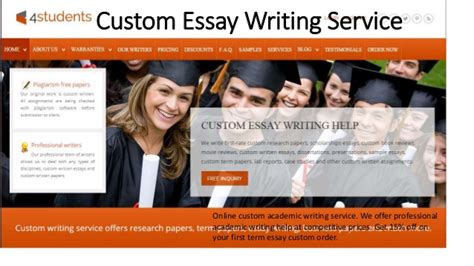 Custom Essays Service by Custom Essay For