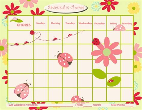 free sticker reward chart template images