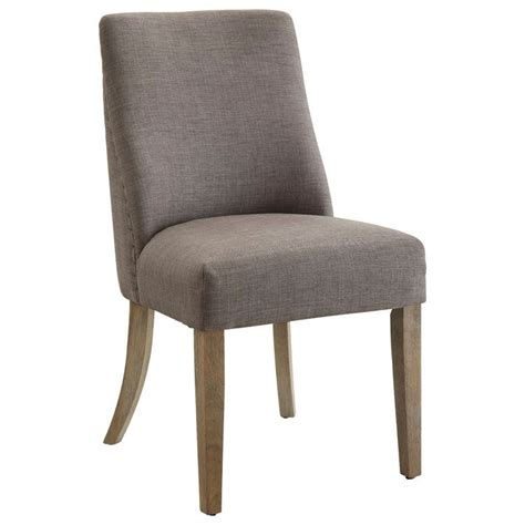 grey side chair antonelli grey linen side chair with nailhead trim set of 2