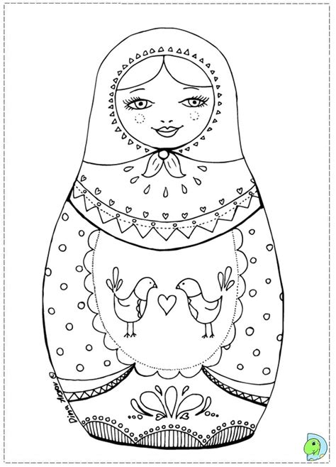 Coloring Pages Matryoshka Dolls | free coloring pages of nesting dolls