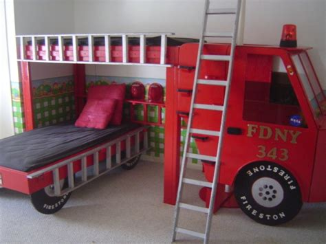 Firetruck Bed Fire Truck Beds Truck Bed And Fire Trucks Fireman Bunk Bed