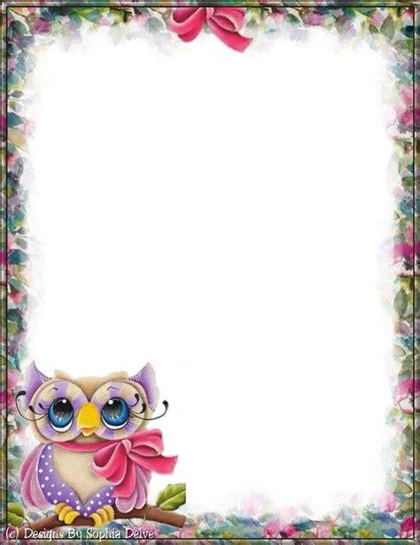 printable owl border paper pin by karen kearsley on borders frames pinterest