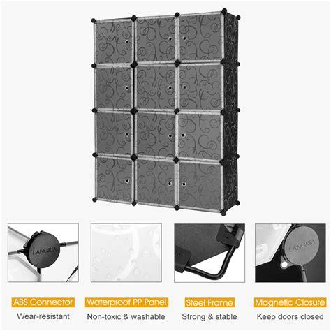 12 cube interlock modular storage organizer shelving