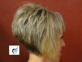 wedge haircut with stacked back how to do a short stacked haircut with straight bangs girl