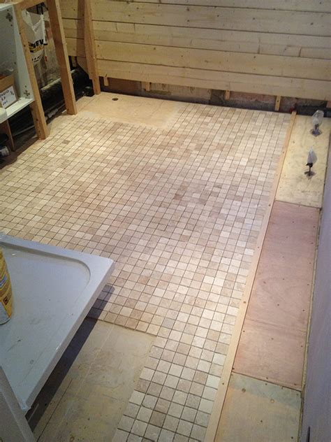 preparing floor for tile
