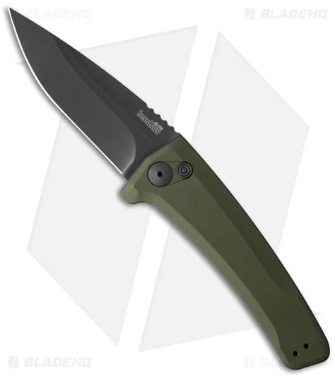 kershaw auto kershaw launch 3 automatic knife od green aluminum 3 4