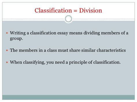classification and division essay sle classification essay