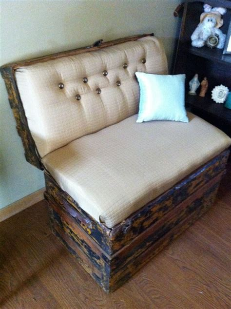 trunk bench seat vintage trunk bench seat