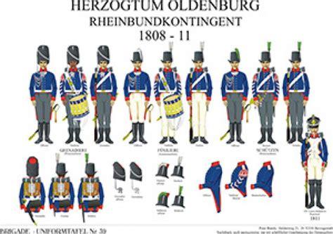 Tafel 39 Herzogtum Oldenburg Rheinbund Kontingent 1808