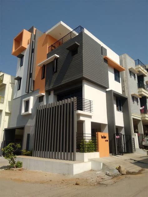 Exterior Home Design In Bangalore 3bhk House Architects In Bangalore Contemporary
