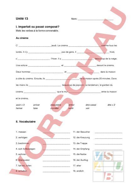 Musterbrief Angebot Französisch Www Unterrichtsmaterial Ch Franz 195 182 Sisch Grammatik Pr 195 188 Fung Envol 8 Unit 195 169 13 Arbeitsbl 195