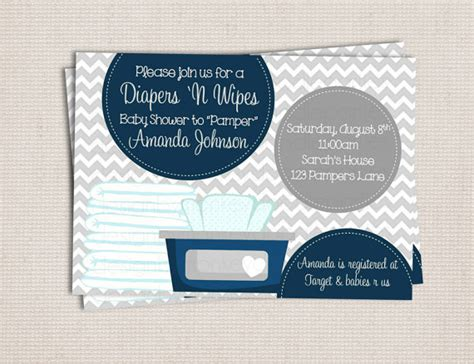 diapers and wipes baby shower items similar to and wipe gray navy baby boy