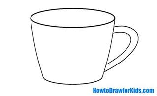 how to draw a cup for howtodrawforkids