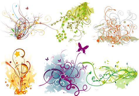 psd pattern shapes 19 vector flourish designs png psd images blue abstract