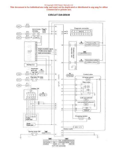 nissan cvt wiring diagram throttle electrical connector