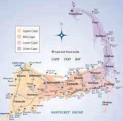 map of the cape cod cape cod beaches map