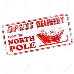 north pole delivery clipart
