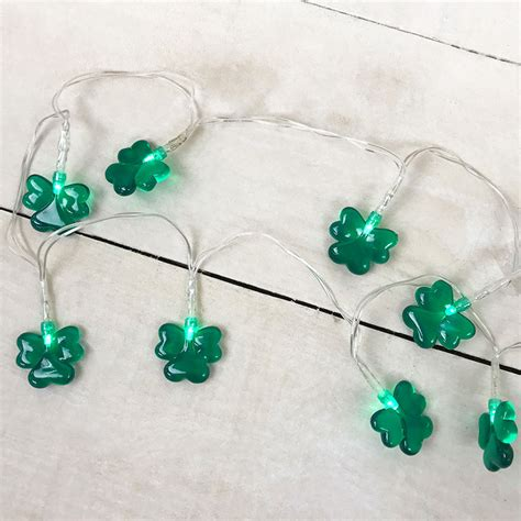 battery operated shamrock lights 20 led mini battery operated string lights