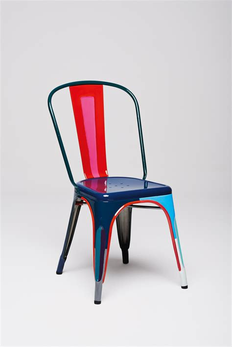 chaises tollix designers interpret the classic tolix a chair sight unseen