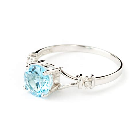14k white gold blue topaz aspire ring gj1191w