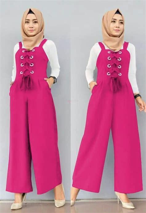 Baju Setelan Model Terbaru setelan baju jumpsuit panjang muslim model terbaru