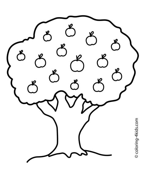 coloring pages apple tree nature apple tree coloring page for kids printable free