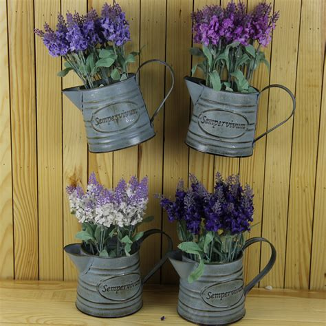 Lavender Planters by Wall Flower Pots Planters With Artificial Flower