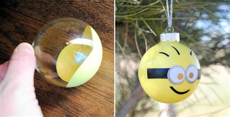 minion christmas decorations how to make minion ornaments diy crafts handimania
