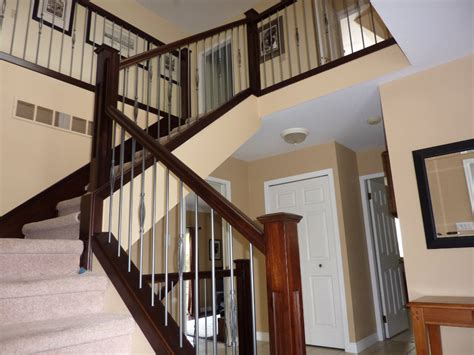 Stair Banister And Railings by Penticton Kelowna Stairs And Stair Railings Stair
