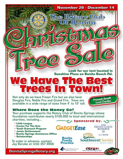 christmas trees for sales flyers tree flyer fishwolfeboro