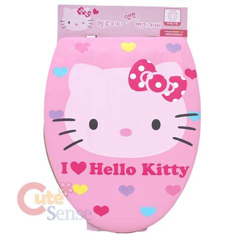 sanrio hello pink toilet seat cover dual