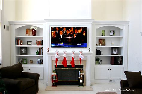 built in shelves living room get this look living room built in shelves throughout
