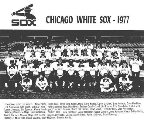 thedeadballera 1977 chicago white sox team photo