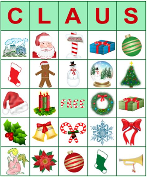 printable holiday bingo cards with pictures printable bingo cards for christmas lovetoknow