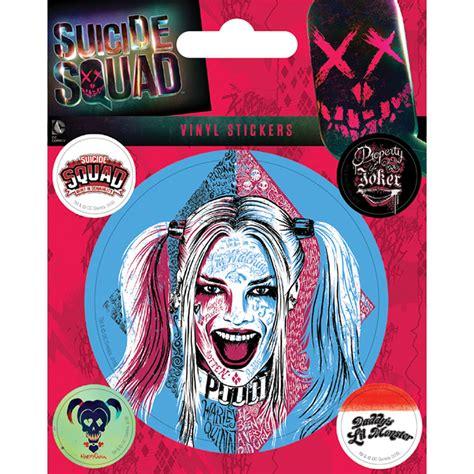 Bike Sticker Joker by Squad Harley Quinn Sheet Of Vinyl Stickers Gadget