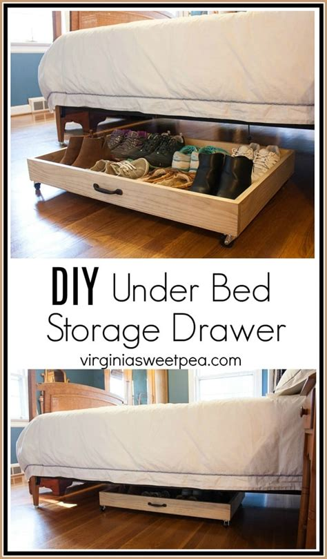 diy under bed drawers diy under bed storage drawer sweet pea