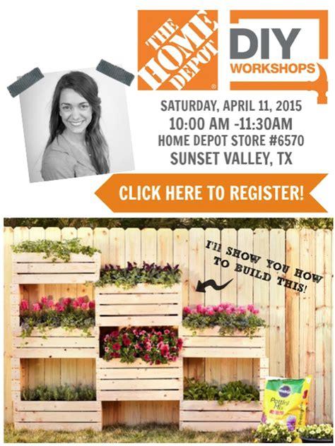 home depot diy workshops the home depot diy workshop vertical planter c r a f t