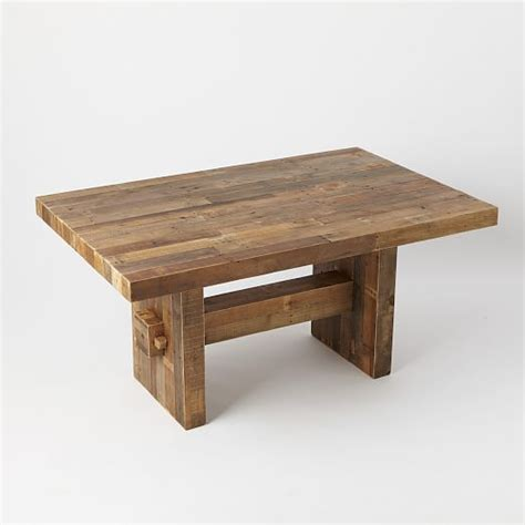 wood dining tables emmerson reclaimed wood dining table west elm