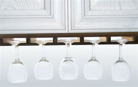 Hanging Wine Shelf by 1000 Ideas About Hanging Wine Glass Rack On