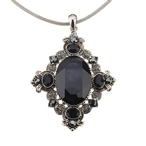 black with pendants swarovski vintage swarovski black and jet