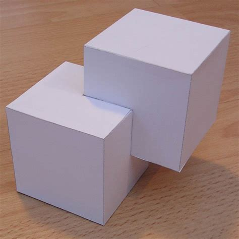 How To Make A Shape Paper - paper cubic shapes