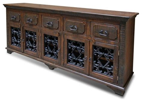 Credenza Tv Table rustic reclaimed solid wood console table sideboard tv