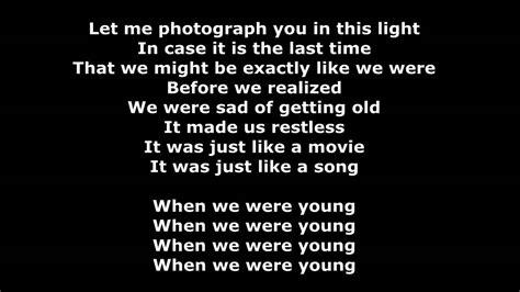 adele when we were lyrics