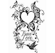 Kleuren Voor Volwassenen Valentijnsdag  Hart Tattoo 7